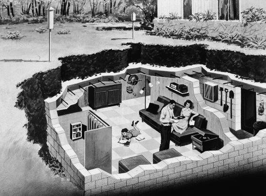 Illustration Of Underground Bomb Shelter